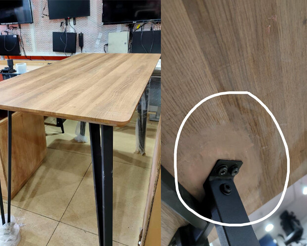 (Sale) Ofix 307 (140x70) Bar Table (Repaired & Stains)