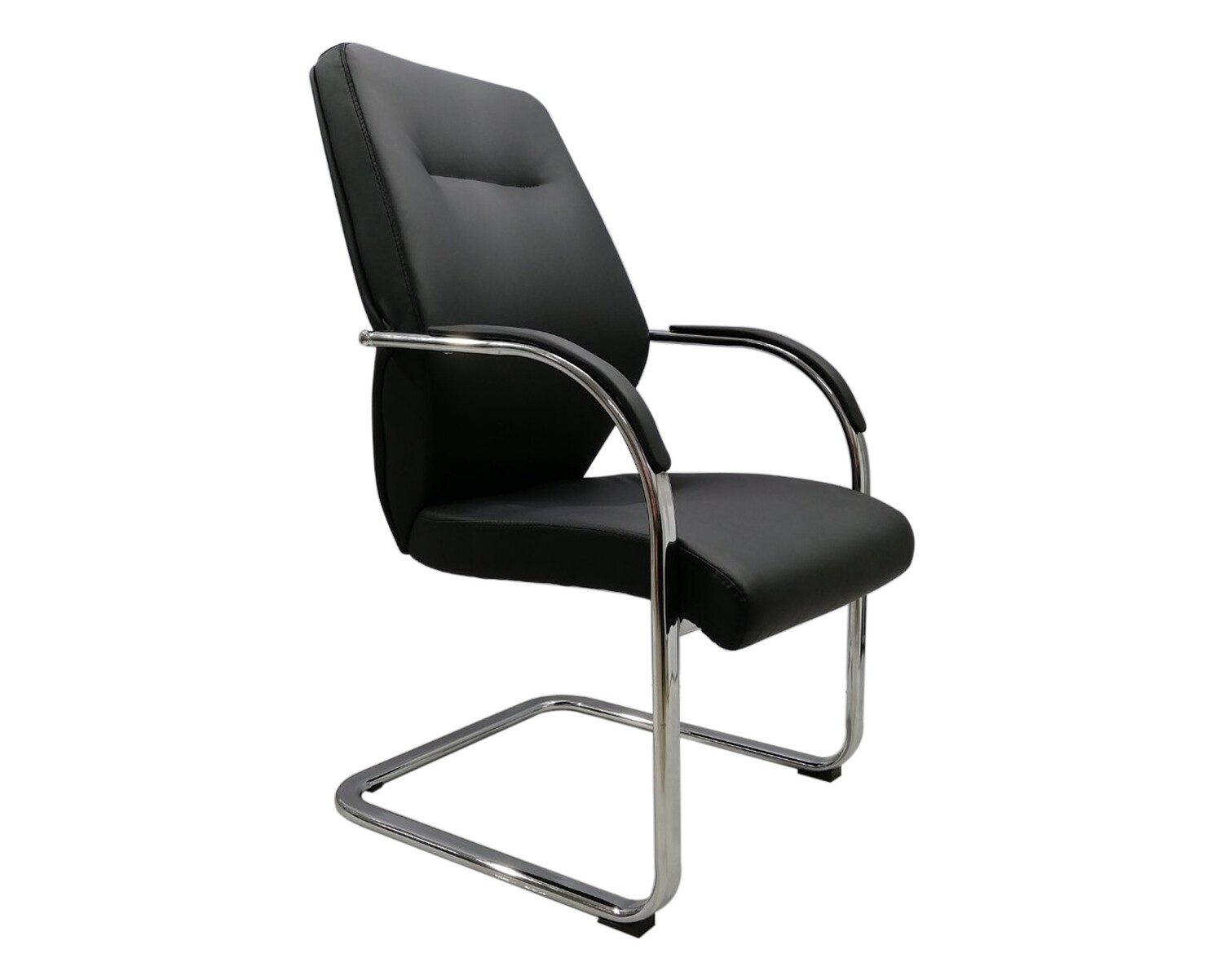 Ofix Deluxe-58 Mid Back PU Leather Chair (Black)