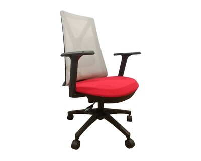 Ofix Korean-108/ 109 Mid Back Mesh Chair (All Black, Blue+Gray, Red+Gray, All White)
