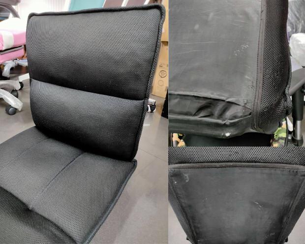 (Sale) Flotti Japanese-7 Floor Sofa (Black) (Torn & Stains)