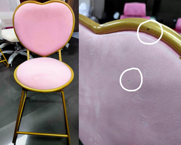 (Sale) Ofix Cora Steel Chair (Pink) (Scratches & Dent)