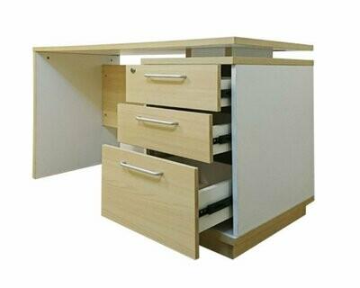 (Sale) Ofix 250-OF (120x60) Desk (Ash White) (Light Scratches & Crack Epoxied)