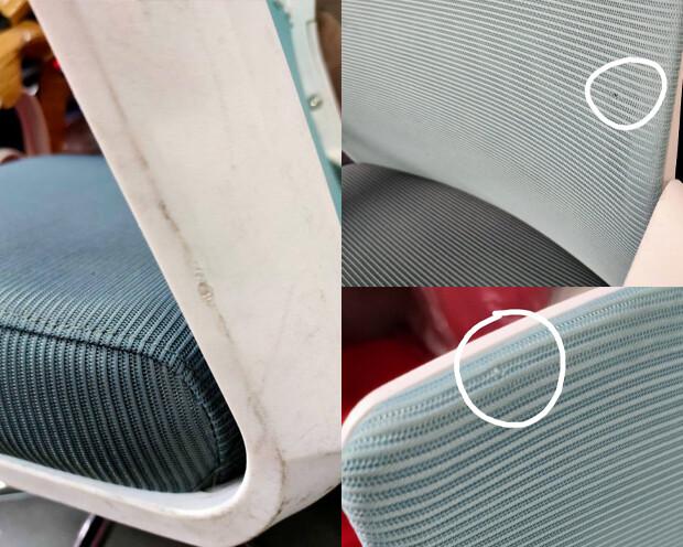 (Sale) Ofix Premium-33 Mid Back Mesh Chair (Blue+Grey) (Scratches & Torn)