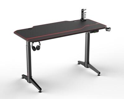 Ofix Jeriah Gaming Electric Height Adjustable Dual Motor Desk (140*66) (Black)