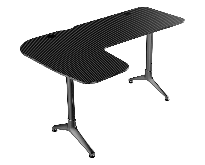 Ofix Giliad L-Shape Carbon Texture Gaming Desk (160*100*60) (Black)
