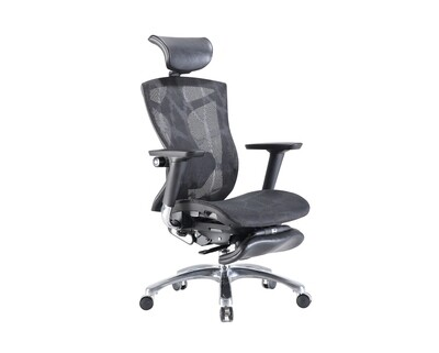 OFX Caleb Gaming Chair All Mesh (Without Footrest/ With Footrest) (Black)