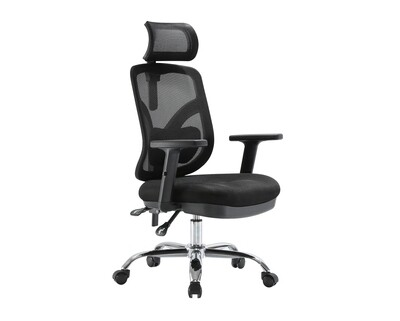 Ofix Deluxe-M56 High Back Mesh Chair (Black)