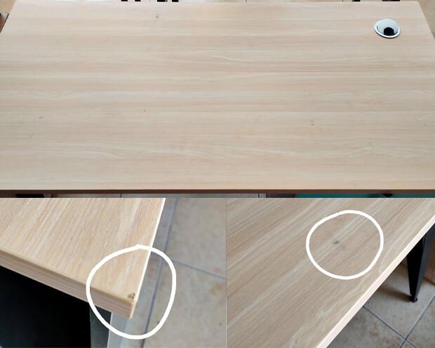 (Sale) Ofix 502 Desk (120x60) Computer Desk (Ash+Light Blue) (Light Scratches & Crack)