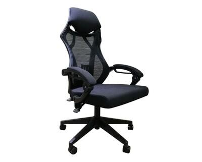 (Sale) OFX Gadiel Gaming Chair (Black) (Dent/Scratches/Crack Epoxied)