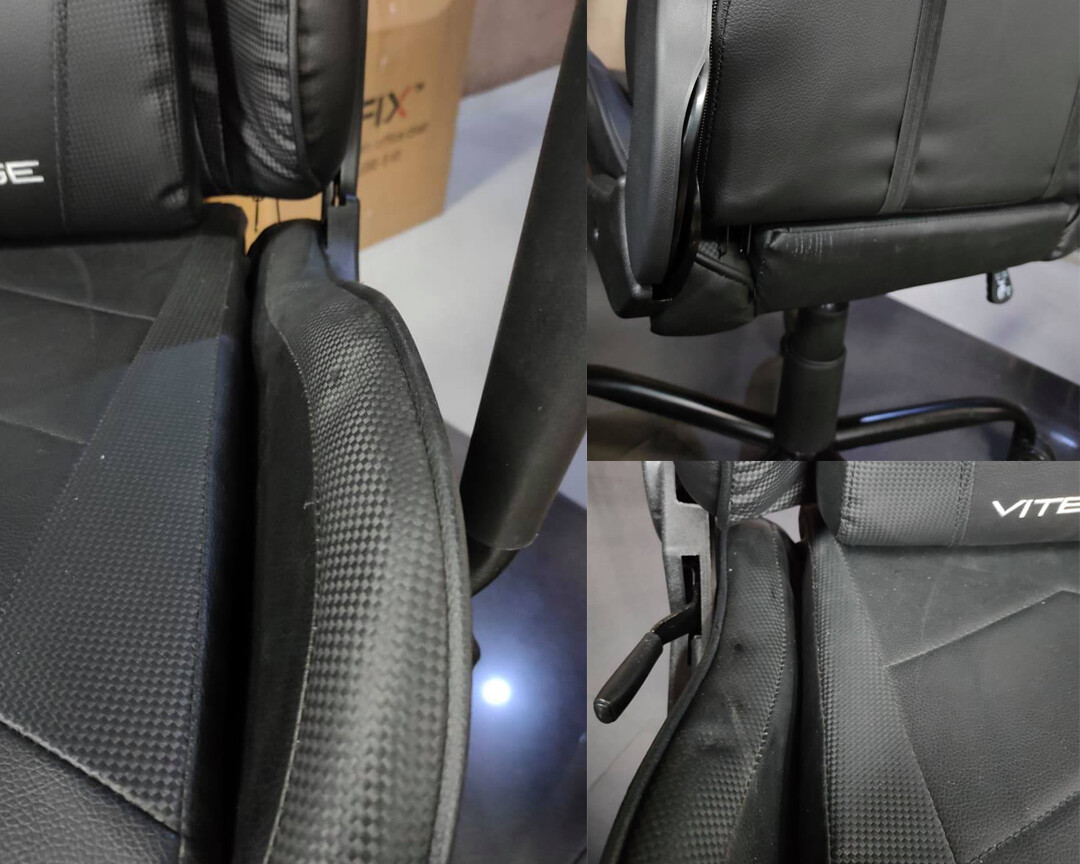 (Sale) OFX Vitesse Steel Base Gaming Chair (Black) (Scratches/Dents)