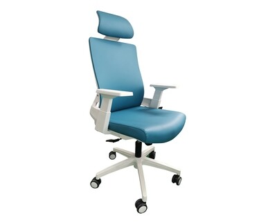 Ofix Deluxe-F10W High Back PU Chair (Violet, Blue)