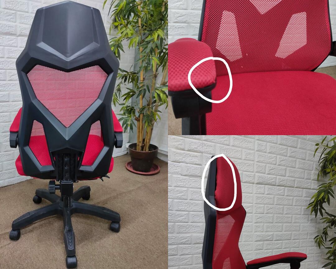 (Sale) OFX Alex w/ Footrest Gaming Chair (Red+Black) (Scratches/Fluff/Headrest Slighty Open)