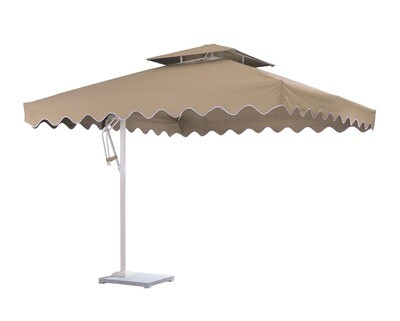 Ofix Averill Square Roof Side Post Umbrella (Khaki)