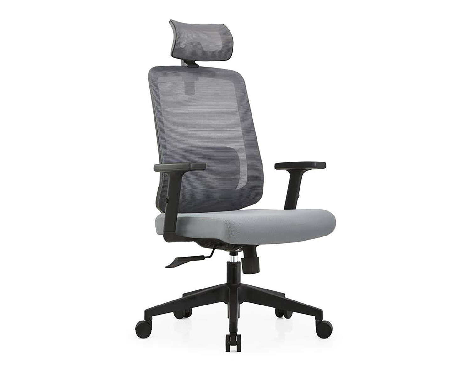 Ofix Deluxe-Z22 High Back Mesh Chair (Grey, Blue+Grey)