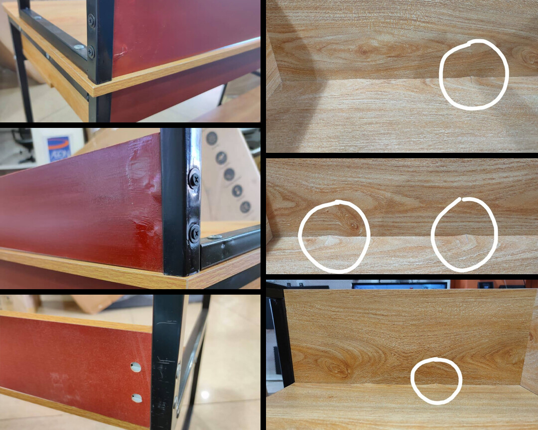 (Sale) Ofix Desk 14-With Bookcase (120x48) (Scratches/Slightly Crack)