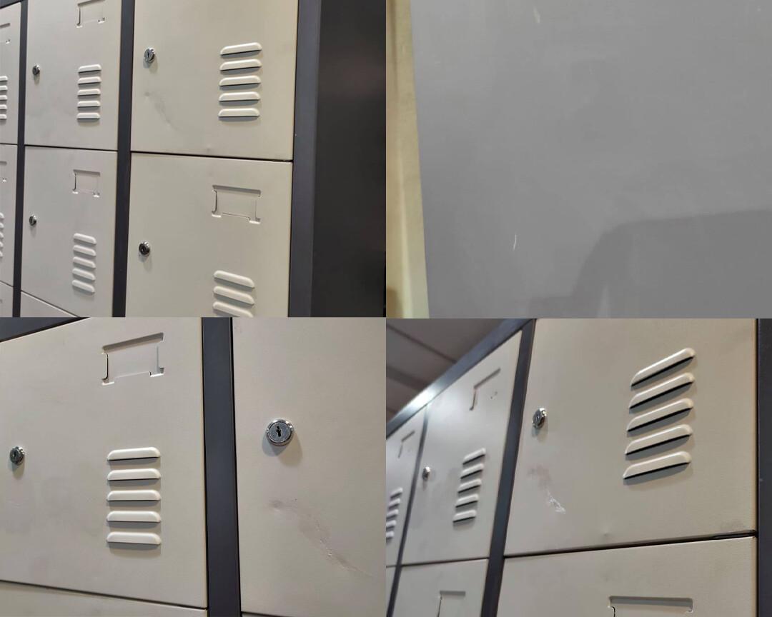 (Sale) Ofix 18-Door Steel Locker Cabinet (Scratches/Dents/Repaint)