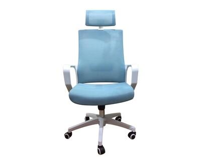 Ofix Korean-F12/ F12H Mid/High Back Mesh Chair (White+Blue, Dark Grey)