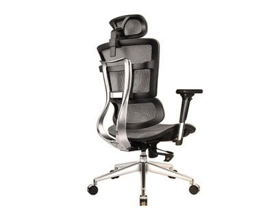OFX Lancelot High Back All Mesh Chair (With Seat Slide) (Grey)