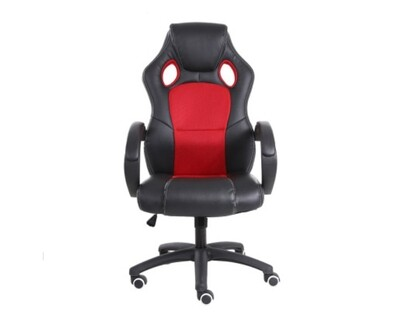(Sale) OFX Deluxe-53 High Back PU Gaming Chair (Red) (Backrest Torn / Scratches)