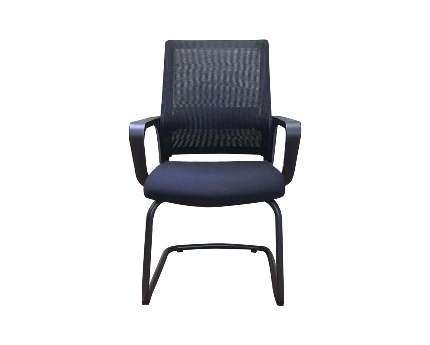 Ofix Deluxe-8W Mid Back Mesh Waiting Chair (Black, White+Blue)