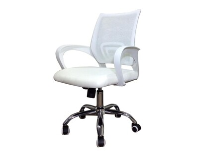 Ofix Deluxe-5W Mid Back Mesh Chair (Pink+White, Purple+White, White)
