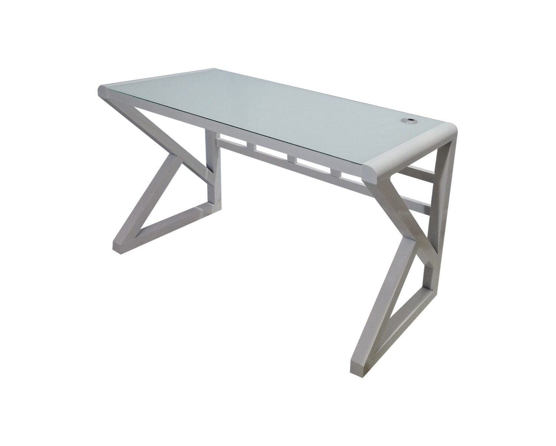 Ofix 601/ 602 (120x60) Glass Desk (White, Black)