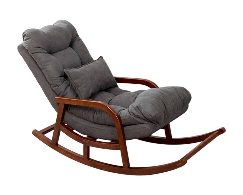 Flotti Sabrina Balcony/ Living Room Solid Wood Rocking Chair (Light Grey, Dark Grey, Light Green)