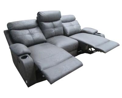Flotti Cinema V3 (Power Recliner Sofa)/ V1 (Manual Recliner Sofa) 3-Seater  (Gray)
