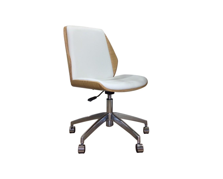 Ofix Premium H3 Bentwood Walnut Office Chair (Black, White)