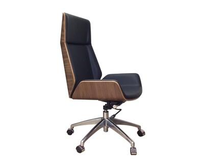 (Sale) Ofix Premium H10 Bentwood Walnut Office Chair (Grey, Black) (Backrest Scratch Only) (Seat Cushion Torn)