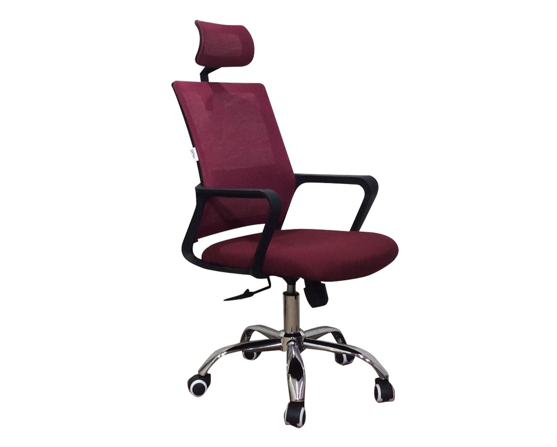 Ofix Deluxe-45/ 45W High Back Mesh Chair (Black, Maroon, Blue, White+Pink, White+Blue, White+Orange, All-White)