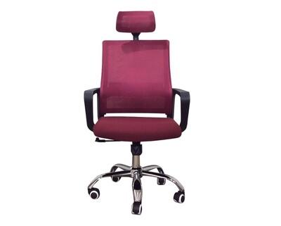 Ofix Deluxe-45/ 45W High Back Mesh Chair (Black, Maroon, Black+Grey, Blue, White+Pink, White+Blue, White+Orange, All-White)