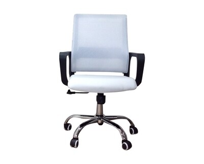 Ofix Deluxe-8/ 8W Mid Back Mesh Chair (Black, Blue, White, Blue+Grey, White+Pink, White+Blue, All White)