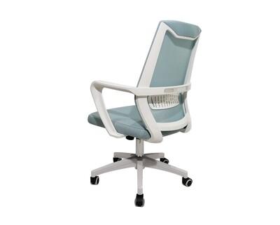 Ofix Korean-F12S/ F12C Mid Back Mesh Chair (White+Blue, Dark Grey)
