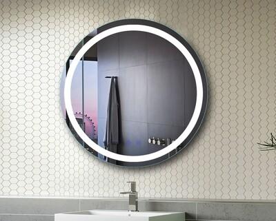 MYKE Wall-Mounted Round Mirror-321F