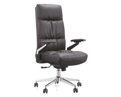 (Sale) Ofix Premium 22 High Back PU Chair (Black) (Backrest Dents & plaster holes)