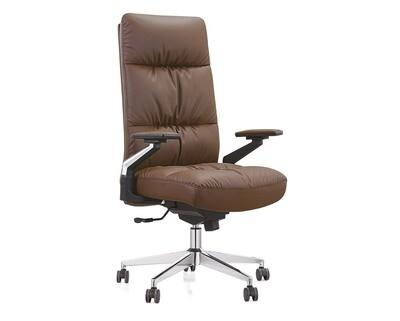 Ofix Premium 22 High Back PU Chair (Brown, Black)
