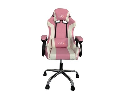OFX Aaron Gaming Chair (Pink+White)