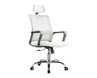 Ofix Deluxe-45/ 45W High Back Mesh Chair (Black, Blue, Maroon, White+Pink, White+Blue, White+Orange)