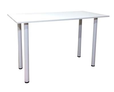 Ofix Desk 17 Desk w/ Round Base (All White,  All Black, Red Top) (120x60)