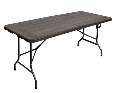 Ofix Wood Grain 6FT Folding in Half Table ( Grey)
