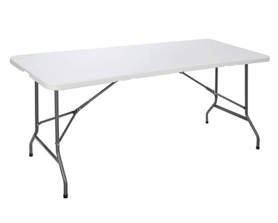 Ofix 6FT Folding in Half Table (180*70*74) (White)