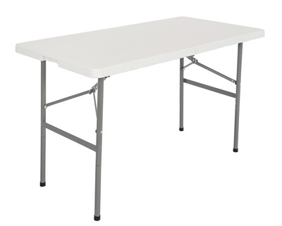 Ofix 4FT Folding in Half Table (White)