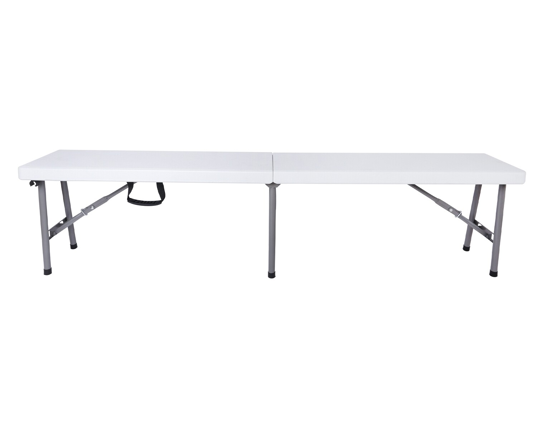 Ofix 6FT Folding in Half Bench (White)