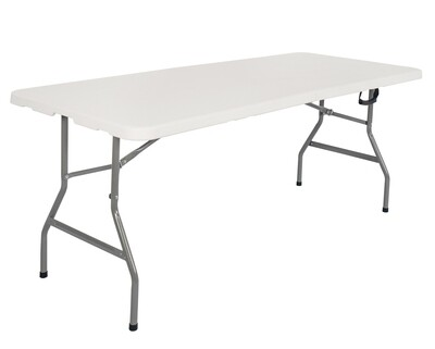 Ofix 6FT Folding in Half Table (180*76*74) (White)