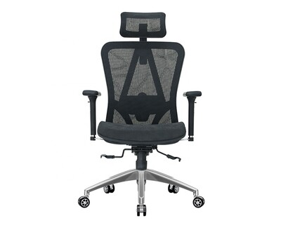 (Sale) Ofix Deluxe-D57 XTM Full Mesh Chair with Seat Slide (Black) (Lumbar not working/Loose Thread)