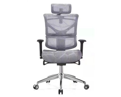 Ofix Deluxe-Z89 High Back Mesh Chair (Black, Grey)