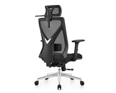 Ofix Korean-D20 Ergonomic Office Chair w/ Seat Slide (Black)