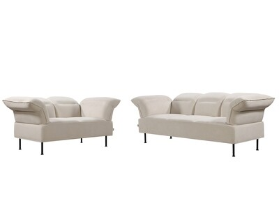 Flotti Kiera 2 Seater Sofa / 3 Seater Sofa (Beige, Light Grey, Dark Grey)