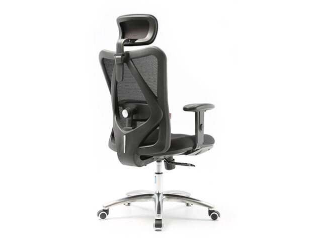 Ofix 2D Adjustable Lumbar Support Office Chairs (Black, Grey)